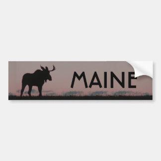 moose silouette bumper, MAINE Bumper Sticker
