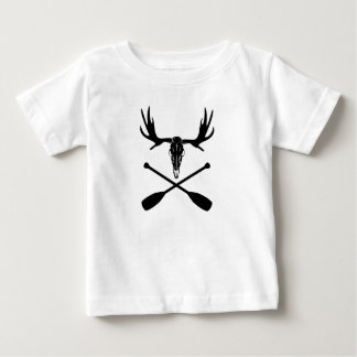 Moose Skull and Crossed Paddles Baby T-Shirt