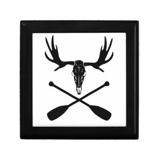Moose Skull and Crossed Paddles Gift Box