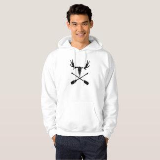 Moose Skull and Crossed Paddles Hoodie