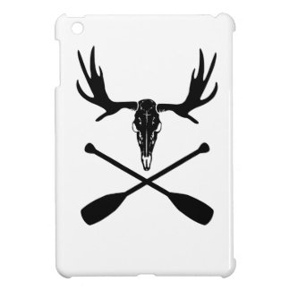 Moose Skull and Crossed Paddles iPad Mini Cover