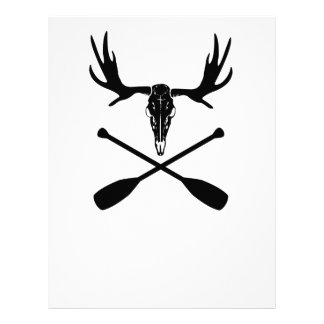 Moose Skull and Crossed Paddles Letterhead