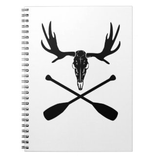 Moose Skull and Crossed Paddles Notebook