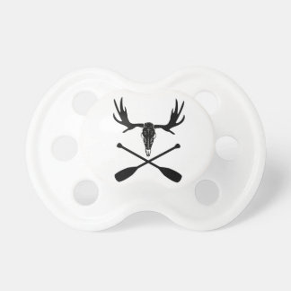 Moose Skull and Crossed Paddles Pacifier
