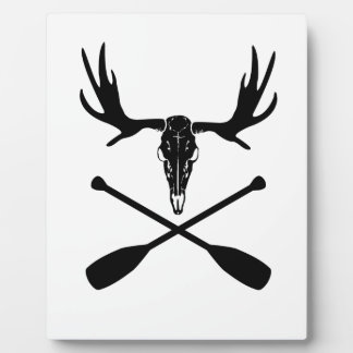 Moose Skull and Crossed Paddles Plaque