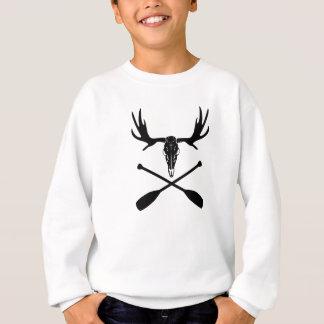 Moose Skull and Crossed Paddles Sweatshirt
