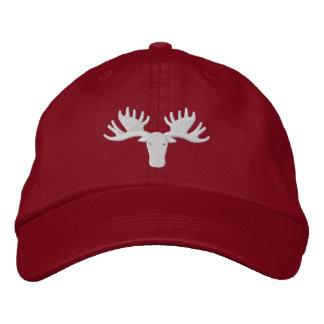 Moose Softball Hat Adjustable Embroidered Hat