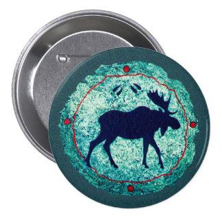 Moose Spirit Symbolic Shield 3 Inch Round Button
