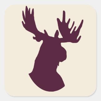 Moose Square Sticker