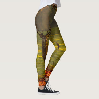 Moose / stag photograph leggings