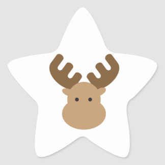 Moose Star Sticker