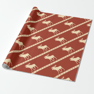 moose star wrapping paper