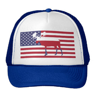 Moose Stars and Stripes Trucker Hat