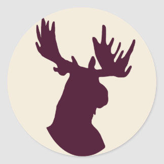 Moose Round Stickers