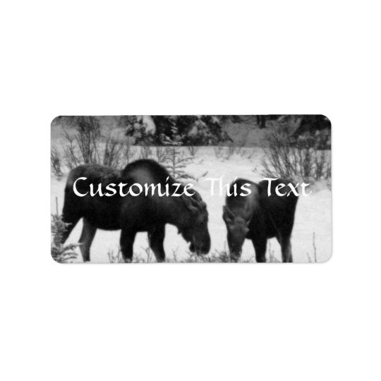 Moose Supper Label