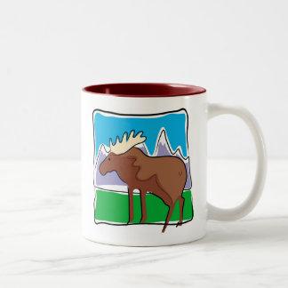 Moose Two-Tone Coffee Mug