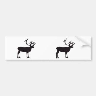 Moose Vintage Wood Engraving Bumper Sticker