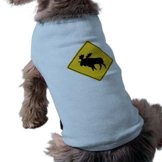 Moose Warning, Road Sign, Canada Dog Tee