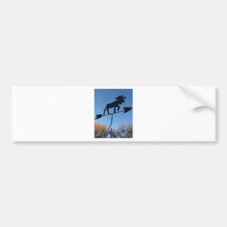 Moose weathervane bumper sticker