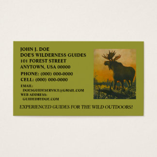 MOOSE WILDERNESS OUTDOOR SERVICES ~ BUSINESS CARD