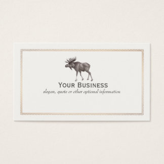 Moose Wilderness Sportsman  Business Card