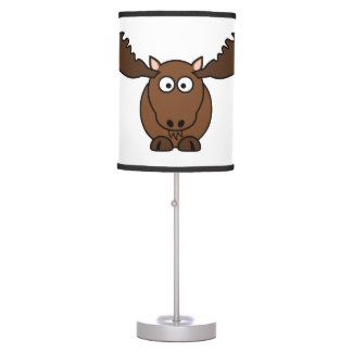 Moose with Big Antlers Table Lamp