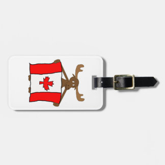 Moose with Canadian flag Tag For Bags