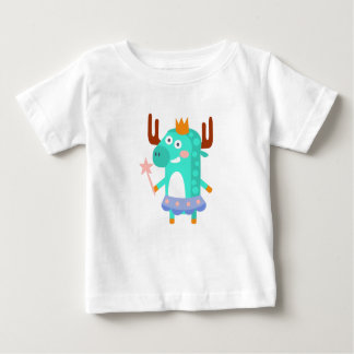 Moose With Party Attributes Girly Stylized Funky Baby T-Shirt