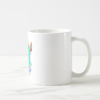 Moose With Party Attributes Girly Stylized Funky Coffee Mug