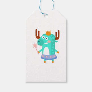 Moose With Party Attributes Girly Stylized Funky Gift Tags
