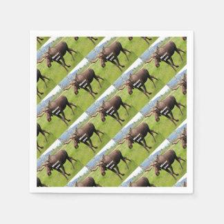 Moose you: Alaskan moose Disposable Napkin