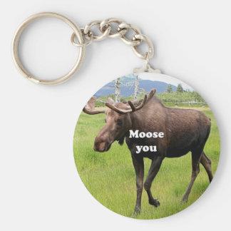 Moose you: Alaskan moose Keychain