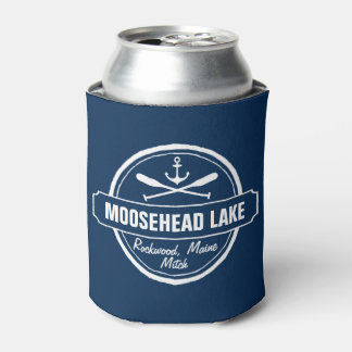 Moosehead Lake Maine anchor custom town and name Can Cooler