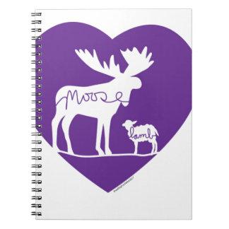mooselambLOVE Spiral Notebook