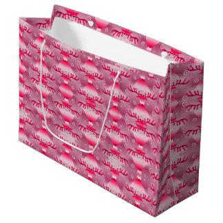 Moosey Christmas red pink large gift bag