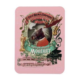 Moozart Funny Animal Composer Mozart Parody Magnet