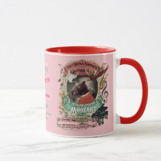 Moozart Funny Moose Great Animal Composer Mozart Mug