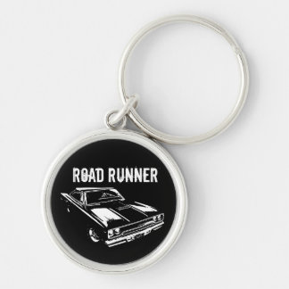 Mopar - 1970 Plymouth Road Runner Silver-Colored Round Keychain