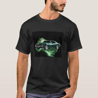 Mopar: '68 Dodge Charger with green lightning T-Shirt