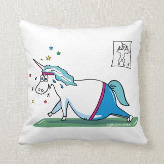 Mopsiges unicorn throw pillow