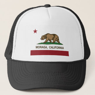 moraga california flag trucker hat