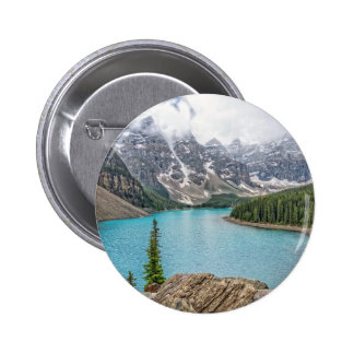 Moraine Lake After the Storm 2 Inch Round Button