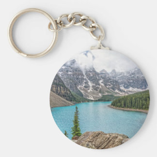 Moraine Lake After the Storm Basic Round Button Keychain