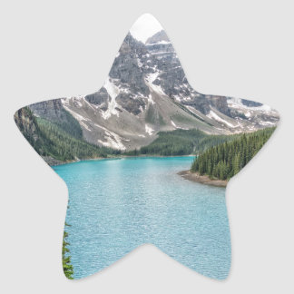 Moraine Lake After the Storm Star Sticker
