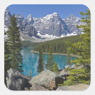 Moraine Lake, Canadian Rockies, Alberta, Canada Square Sticker
