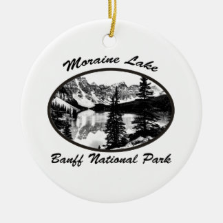 Moraine Lake Ceramic Ornament