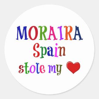Moraira Spain Stole My Heart Classic Round Sticker