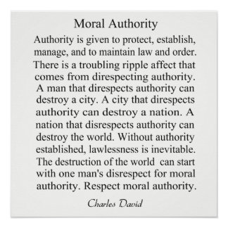 Moral Authority Poster
