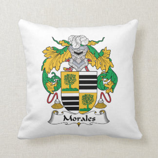 Morales Family Crest Throw Pillow