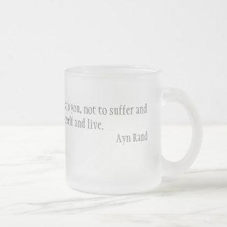 Morality Frosted Glass Coffee Mug